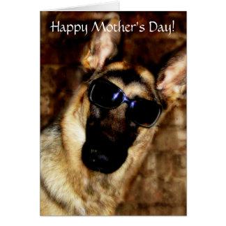 German Shepherd Mother's Day Card