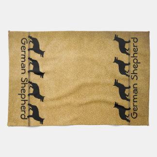 German Shepherd Muddy Paws Towels