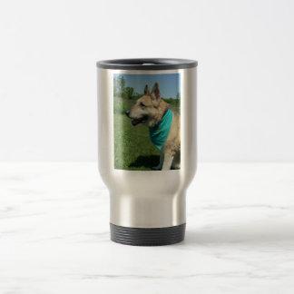 German Shepherd 15 Oz Stainless Steel Travel Mug