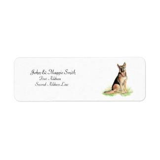 German Shepherd Name Label