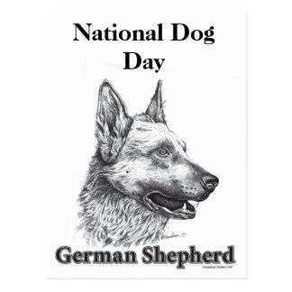 German Shepherd National Dog Day Postcard