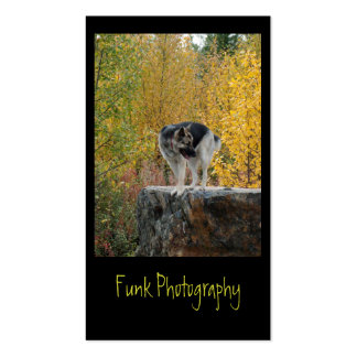 German Shepherd on a Rock Double-Sided Standard Business Cards (Pack Of 100)