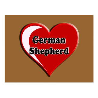 German Shepherd on Heart for dog lovers Postcard