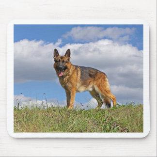 German Shepherd on Hill Mousepads