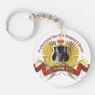 German Shepherd Owner Personalized Round Keychain