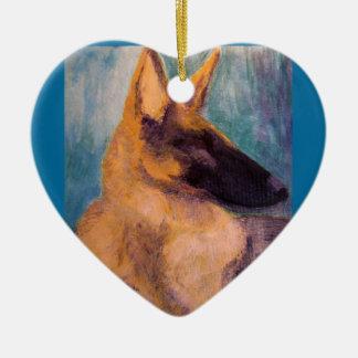 German Shepherd Painting, Ornament