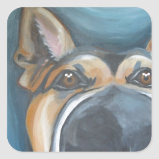 German Shepherd Painting Sticker