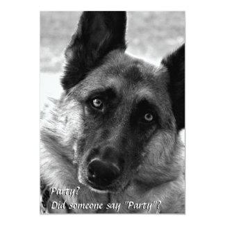 German Shepherd Party Invitations