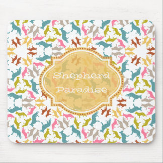 German Shepherd Pastel Pattern Mouse Pad
