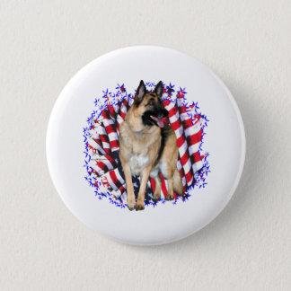 German Shepherd Patriot Pinback Button