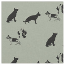 German Shepherd Pattern Fabric