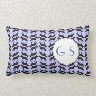 German Shepherd Pattern Lumbar Pillow