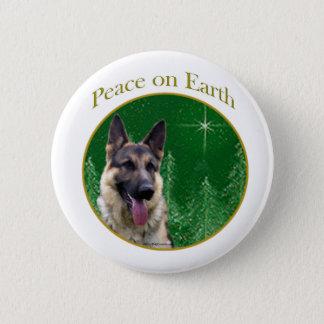 German Shepherd Peace Pinback Button