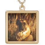 German Shepherd Pendant Necklace