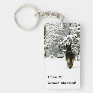 German Shepherd Photo Keychain