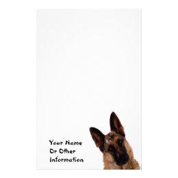 German Shepherd Photo Personalized Stationary Stationery