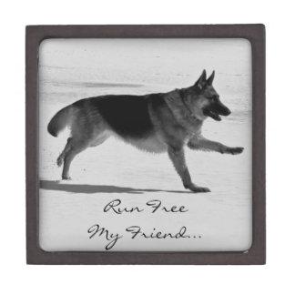 German Shepherd Photo Pet Memorial Box