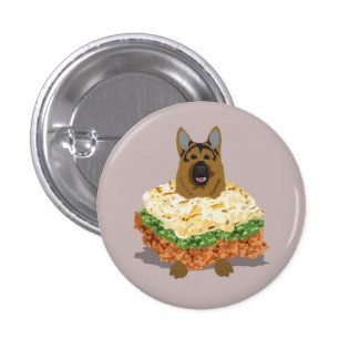 German Shepherd Pie Badge Button