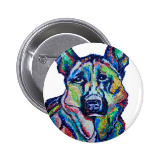 German Shepherd Pinback Button