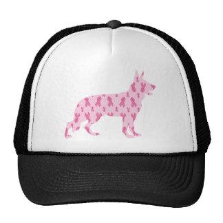 German Shepherd Pink Cancer Ribbons Trucker Hat