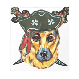 German Shepherd Pirate Notepad