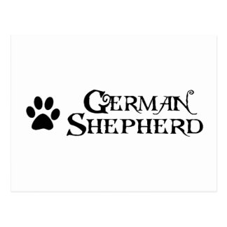 German Shepherd (pirate style w/ pawprint) Postcard