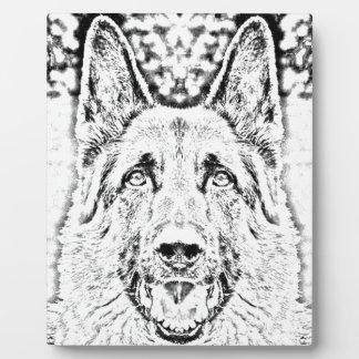 German shepherd plaques