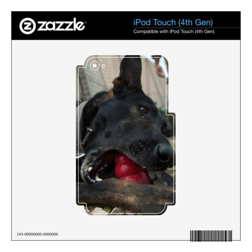 German Shepherd Playing With Dog Toy Skin For iPod Touch 4G