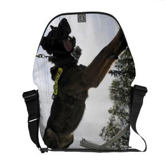 German Shepherd Police Dog Messenger Bags