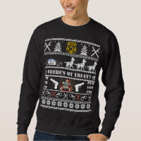 German Shepherd Police K9 Dog Christmas Sweater