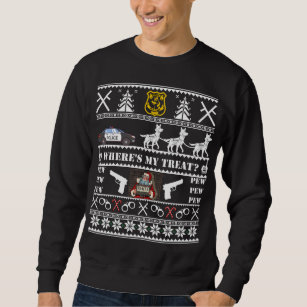 german shepherd police k9 dog christmas sweater