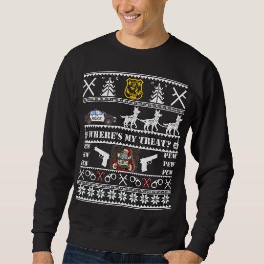 German Shepherd Christmas Sweater.German Shepherd Police K9 Dog Christmas Sweater