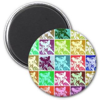 German Shepherd Pop Art Magnets