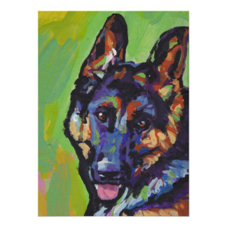 german shepherd dog posters zazzle. Black Bedroom Furniture Sets. Home Design Ideas
