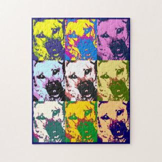German Shepherd Pop Art Puzzle