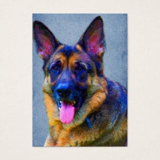 German Shepherd Portrait ACEO Art Trading Cards