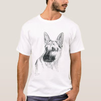 German Shepherd Portrait breed t-shirt