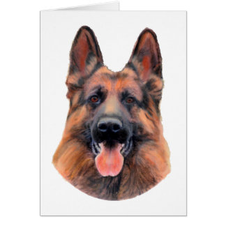 German Shepherd Portrait Card