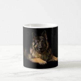 German shepherd portrait coffee mug