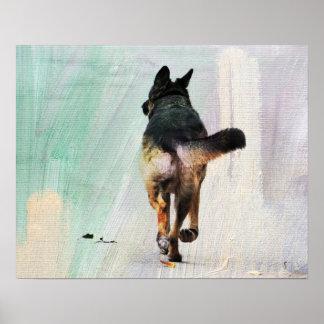 German Shepherd Portrait Fine Art Print