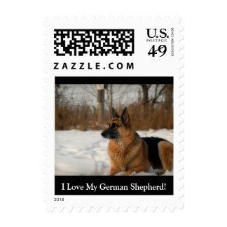 German Shepherd Postage Stamps