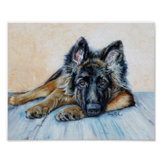 Funny & Vivid German Shepherd Posters & Wall Decor