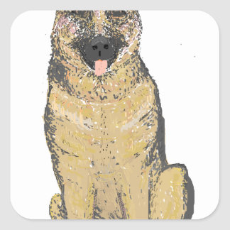 German Shepherd Products customize Square Sticker
