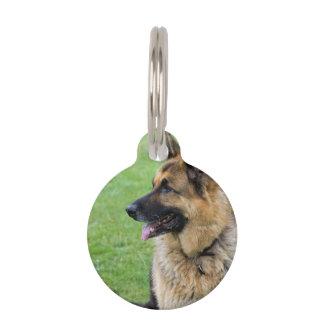 German Shepherd Profile Pet ID Tag