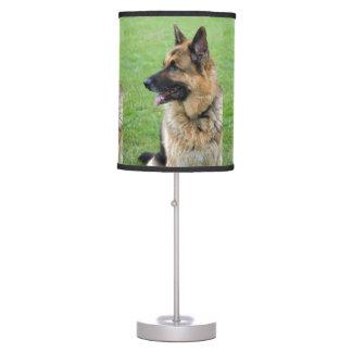 German Shepherd Profile Table Lamps