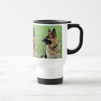 German Shepherd Profile Travel Mug