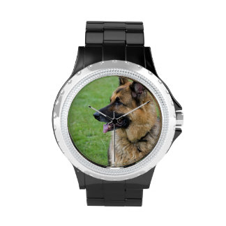 German Shepherd Profile Wrist Watches