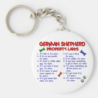GERMAN SHEPHERD Property Laws 2 Basic Round Button Keychain