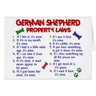 GERMAN SHEPHERD Property Laws 2 Card