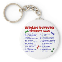 GERMAN SHEPHERD Property Laws 2 Keychain